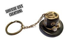 Steampunk Mini Hat Keychain made of by SiouxsieSixxCreation
