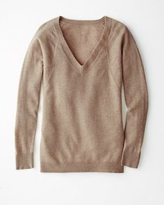V-Neck Boyfriend Cashmere Sweater