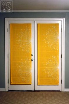 babies, design & food: My DIY (No Sew) French Door Shades for under $30!