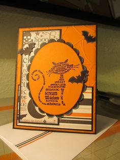 2013 Halloween card - Frightening Feline by Stampin Up!