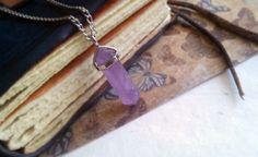 SPRING SALE Amethyst Crystal Point Pendulum by QueenofJackals, $13.50
