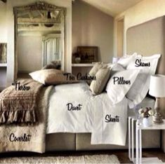 The luxury bed set ingredients, create your own!