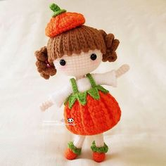 Happy Friday My sweet little pumpkin girl (pattern by @stup1da_ ) 可爱的南瓜小妹