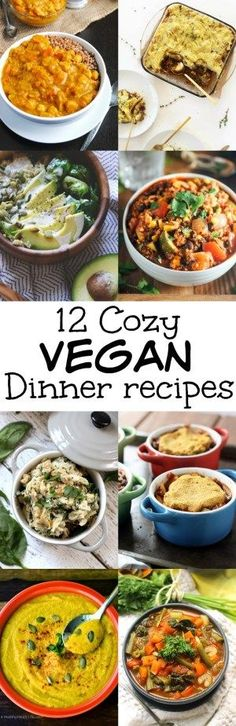 These vegan dinners will warm you up from the inside out on a chilly day! Hearty, comforting, and perfect with hot chocolate and a movie.