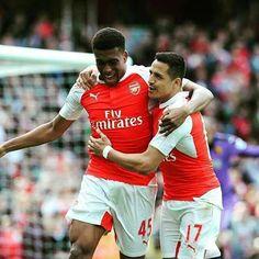 Alex Iwobi and Alexis. Arsenal 4-0 Watford #Arsenal #BPL