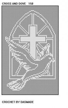 Free Filet Crochet Doily Patterns | 150 Cross Dove Filet Crochet Doily Afghan Bedspread Pattern ...