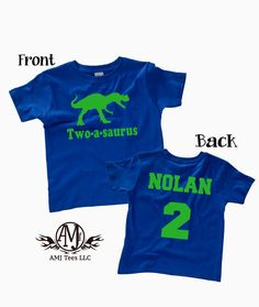 Dinosaur Birthday Shirt For Kids Personalized T Rex Party Front And