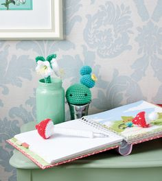 Beginner crochet makes: pen cosies, keyring charm and cactus ornament Crochet Pattern