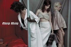 Doutzen Kroes, Adriana Lima, Bette Franke, Malgosia Bela and Others Front the Miu Miu Spring 2013 Campaign by Inez & Vinoodh