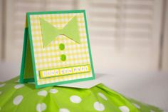green and yellow bow tie father's day card by cassandra7creates, $4.00