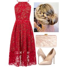 Wedding Guest by girlinthesteelcorset on Polyvore featuring Warehouse, Massimo Matteo and Edie Parker