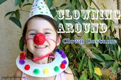 Your child can craft this cute little clown costume for some clowning around fun!