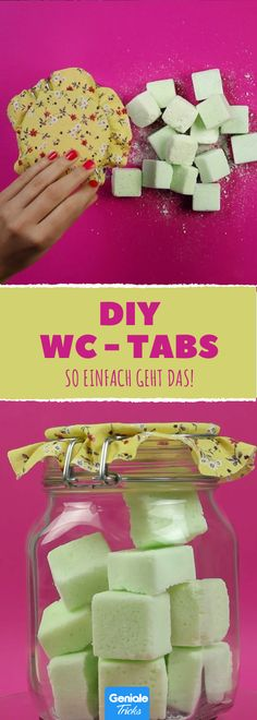 It& so easy to make tabs for a clean toilet yourself So einfach machst du dir Tabs für eine saubere Toilette selber. It& so easy to make tabs for a clean toilet yourself. Clean Life, Clean House, Diy Cleaning Products, Cleaning Hacks, Wc Tabs, Pot Rack Hanging, Desk And Chair Set, Hard Water Stains, Toilet Cleaning