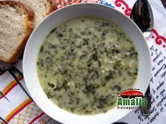 Ciorba de macris fara carne (Watercress soup without meat)
