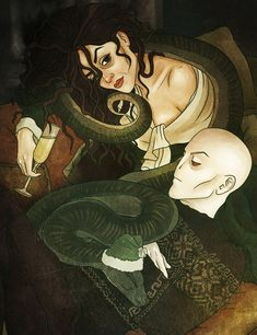 Bellatrix Lestrange. Voldemort. It's your year, Nagini by AnastasiaMantihora.deviantart.com on @DeviantArt
