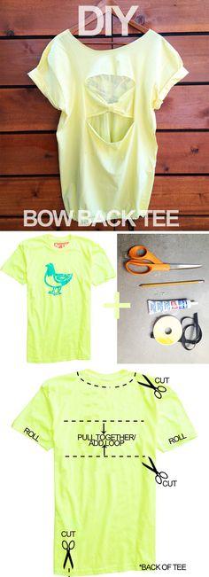 DIY: Bow Back Tee