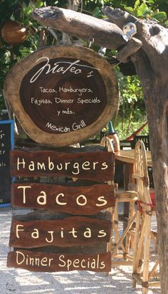 Our daily source for yummy breakfasts and shrimp tacos. Rustic Cafe, Rustic Restaurant, Outdoor Restaurant, Restaurant Design, Restaurant Bar, Outdoor Cafe, Backyard Cafe, Cafe Shop Design, Container Cafe