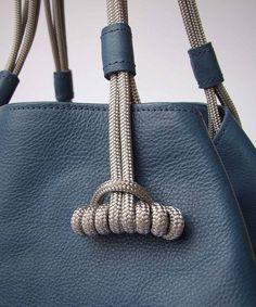Details we like / Leather / Bag / Blue / Fashion / Cord / at i am a dreamer - designbyblack.com