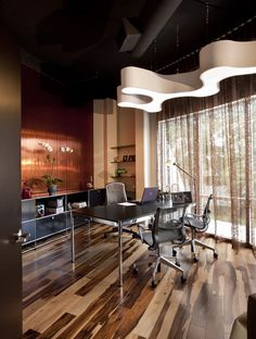 Executive Office - modern - home office - other metro - Ted Maines Interiors