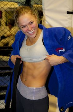 MMA isn't just for men Props to Rousey for showing that women can be just as competitive as men.