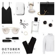 """""""October Fashion Favourites '16"""" by rachaelselina ❤ liked on Polyvore featuring Bobbi Brown Cosmetics, American Eagle Outfitters, Equipment, Mulberry, Irene Neuwirth, Prada, 3.1 Phillip Lim and Iosselliani"""