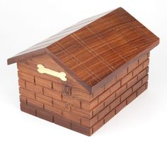 Pet Cremation Ashes Urn /  Ash Casket Solid Wood!!- UU540009A   #MemorialsFunerals