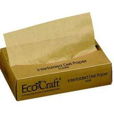 "Bagcraft Papercon 016008 EcoCraft Interfolded Dry Wax Deli Paper, 10-3/4"" Length x 8"" Width, NK8 Natural (12 Packs of 500), http://www.amazon.com/dp/B0087RTXHY/ref=cm_sw_r_pi_awdm_.kv6vb1DVM43K"
