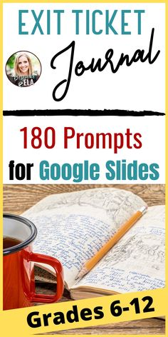 This Exit Ticket Journal Bundle for Google Slides contains 180 exit ticket prompts for any content area in secondary grades 6-12.... perfect to navigate distance learning or remote teaching in middle school or high school in order to assess learning and comprehension. #exittickets #journal #secondaryELA #growthmindset #distancelearning #remoteteaching #elearning #bellringers Writing Resources, Teaching Writing, Writing Ideas, Teaching Resources, High School Writing, Middle School, Rhetorical Device, Mentor Sentences, Data Binders