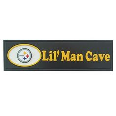 Fan Creations N0577-PIT Pittsburgh Steelers Lil' Man Cave Plaque