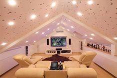 Çatı katı salon dizayn