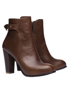 It Olivia Cognac Leather High Heel Boots - It shoes 1