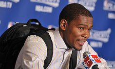 Kevin Durant w button-down and backpack