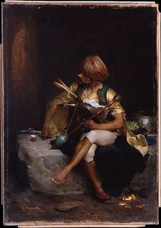 """Charles Bargue: """"A Bashi-Bazouk""""  1875 Oil on canvas The Met"""
