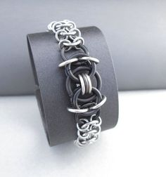 Unisex Bracelet Chainmaille Jewelry Stainless by BlackCatLinks