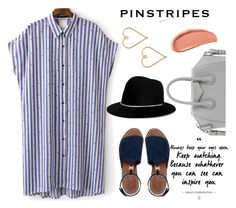"""Pinstripes"" by sweet-fashionista ❤ liked on Polyvore featuring WithChic, Givenchy, Tory Burch, Janessa Leone, Lee Renee, Urban Decay and pinstripes"