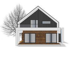 DOM.PL™ - Projekt domu NA FX-24 CE - DOM NA1-46 - gotowy koszt budowy Modern Family House, Modern Barn House, Modern House Plans, Architecture Details, Interior Architecture, Duplex House, House Elevation, Scandinavian Home, Minimalist Home