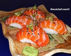 Salmon nigiri sushi image