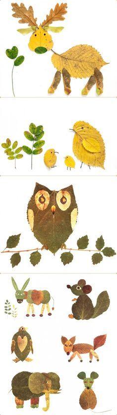 leave critters - Gerepind door www.gezinspiratie.nl #knutselspiratie #knutselen #creatief #kind #kinderen #kids #leuk