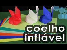 Coelho inflável de origami - Origami inflatable rabbit - YouTube