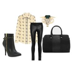 Bowler bag + leather pants + rocker booties = the perfect go-to outfit for off duty days.