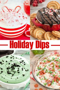 Sweet and savory dips for the holiday season. These dip recipes are sure to be a hit at your holiday party, potluck or gathering. You'll find great Christmas appetizer and dessert recipes including no bake, make ahead and crockpot recipes. #christmas #dips #holidays #desserts #appetizers #nobabke #sweets #partyfood #potluck Dessert Party, Dessert Dips, Party Desserts, Dessert Recipes, Potluck Recipes, Party Recipes, Holiday Appetizers, Christmas Desserts, Christmas Baking