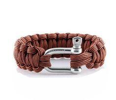 Fancy - Handmade Man Survival Rope Bracelet - Pink/Brown