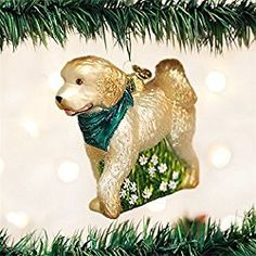 Old World Christmas Doodle Dog Glass Blown Ornament Old World Christmas Ornaments, Dog Christmas Gifts, Dog Ornaments, Christmas Store, Christmas Animals, Dog Lover Gifts, Dog Lovers, Cockapoo Puppies, Christmas Doodles
