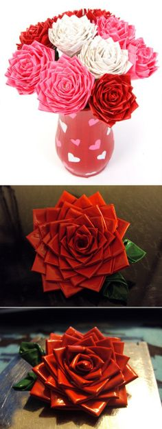 DIY Duct Tape Roses