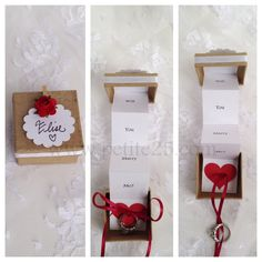 Pop Up Marriage Proposal secret message in a box Will от Petite25