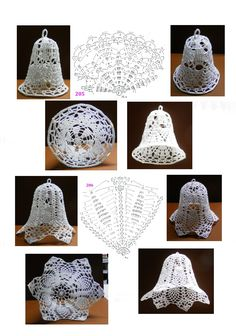 205 - 206 Crochet Snowflake Pattern, Crochet Stars, Crochet Snowflakes, Crochet Cross, Crochet Doilies, Crochet Patterns, Crochet Christmas Decorations, Crochet Ornaments, Holiday Crochet