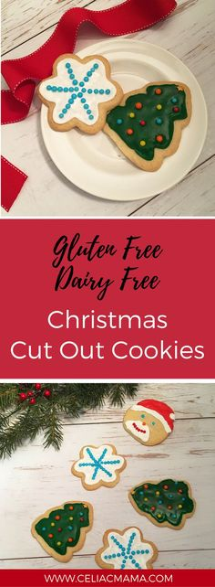 "Gluten free Christmas cut out cookies are a fun way to get your kids in the kitchen and spread holiday cheer.  These days my kids are very into arts and crafts. They enjoy painting (usually on themselves and on paper!) and coloring, and also making my husband and I ""cards."" I use that term lo"