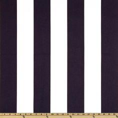 STRIPES TABLE RUNNER - Premier Prints Vertical Stripe White/Navy Blue. $18.00, via Etsy.