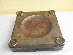 Vintage Wood and Rusty Metal Utility Plate / by DeeSweetNostalgia, $12.99 - SOLD