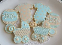 images of decorated cookies | Shower Cookie Favors - Baby Shower Decorated Cookies - Onesie Cookie ...
